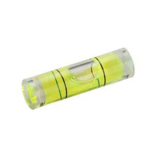 Röhrenlibelle Acrylglas 53 14x6mm, zylindrisch, innen tonnenförmig, grüngelbe Füllung