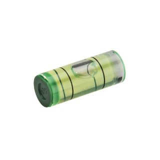 Cylindrical Acrylic Spirit Level Vial 46 25x9,5mm, Green-Yellow Filling