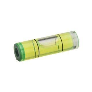 Cylindrical Acrylic Spirit Level Vial 46 32x9,5mm, Green-Yellow Filling