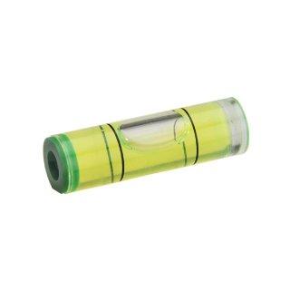 Röhrenlibelle Acrylglas 46 32x9,5mm, zylindrisch, innen tonnenförmig, grüngelbe Füllung