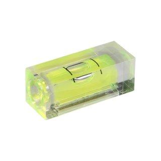 Röhrenlibelle Acrylglas 53 32x12x12mm, quaderförmig, nicht tonnenförmig, grüngelbe Füllung