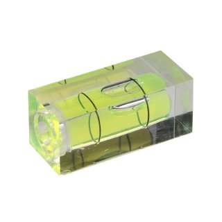 Square Section Acrylic Spirit Level Vial 53 36x15x15mm, Green-Yellow Filling