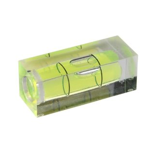 Square Section Acrylic Spirit Level Vial 35 40x15x15mm, Green-Yellow Filling