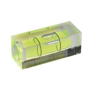 Röhrenlibelle Acrylglas 35 40x15x15mm, quaderförmig, innen tonnenförmig, grüngelbe Füllung