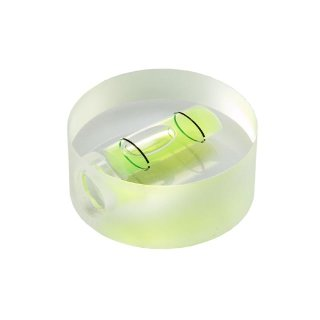 Round Acrylic Spirit Level 50 32x12mm, Green-Yellow Filling