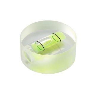Röhrenlibelle Acrylglas 50 32x12mm, rund, innen tonnenförmig, grüngelbe Füllung
