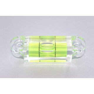 Square Section Screw On Acrylic Spirit Level Vial 36 60x15x15mm, Green-Yellow Filling