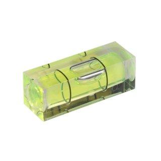 Röhrenlibelle Acrylglas 53 29x10x10mm, quaderförmig, innen tonnenförmig, grüngelbe Füllung