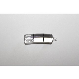 Bent Glass Vial 18mm/m 24x6mm, 2 Black Markings, Clear Liquid