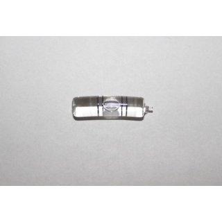 Röhrenlibelle Ganzglas gebogen 29x7,5mm, 2 Doppel-Teilstriche schwarz, klare Füllung