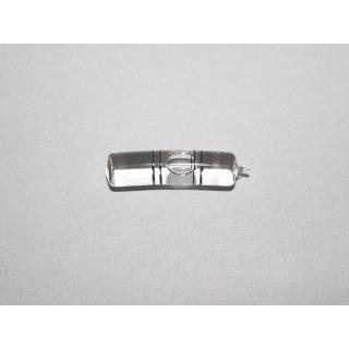 Röhrenlibelle Ganzglas gebogen 34x8mm, 2 Doppel-Teilstriche schwarz, klare Füllung