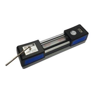 Adjustable horizontal spirit level 250mm, 0,01mm/m with case