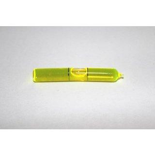 Bent Glass Vial 51x7,2mm, 2 Black Markings, Yellow/Green Liquid