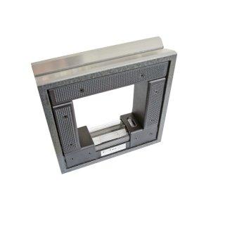 Frame Spirit Level 200x200mm, 0,04mm/m with case